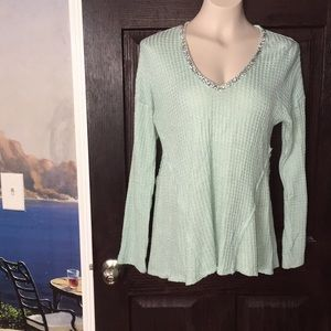Juicy Couture Sweater Silver Threads & Accents M 8